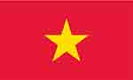 Vietnamese flag by Flagpictures.org