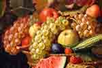 Fruits and veggies on canvas